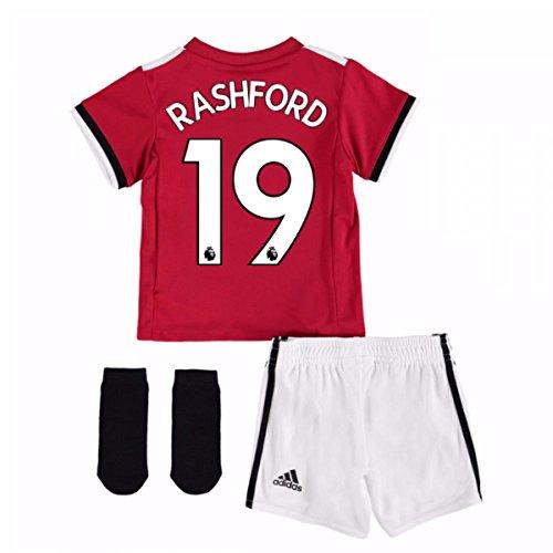 UKSoccershop 2017-2018 Man United Home Baby Kit (Rashford 19)