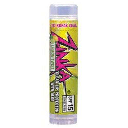 Zinka Clear Lip Protector with Aloe SPF 15 Lemon Twist