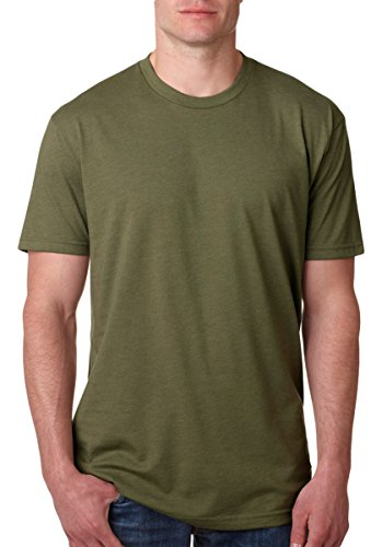 Next Level Apparel N6210 Mens Premium CVC Crew – Military Green, Large