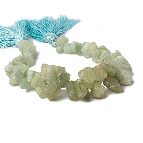 - Aquamarine Beads Tumbled Top Drilled Nugget