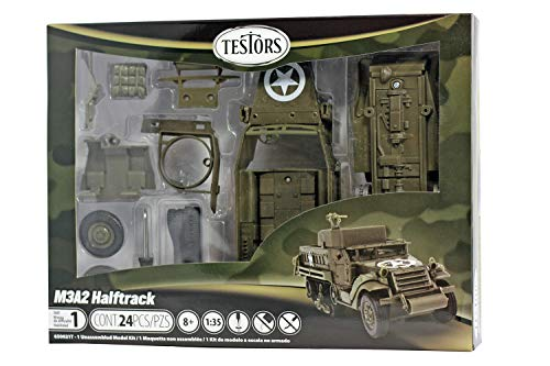 Testors Classic M3A2 Halftrack Armored Personal Carrier (1:35 Scale)
