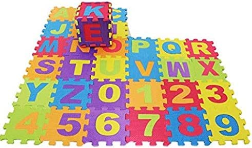 Puzzle Floor Mat with 36 Tiles for Kids