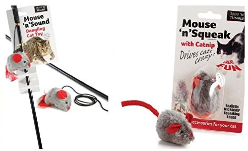 Sharples-n-Grant Mouse 'n' Squeak Toy with Catnip...