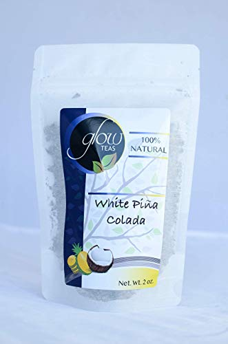 (100% Organic White Loose Leaf Tea With Pineapple and Coconut Chunks Fair Trade Antioxidant Packed Healthy Natural Caffeine Vitamin Rich (2 Oz))