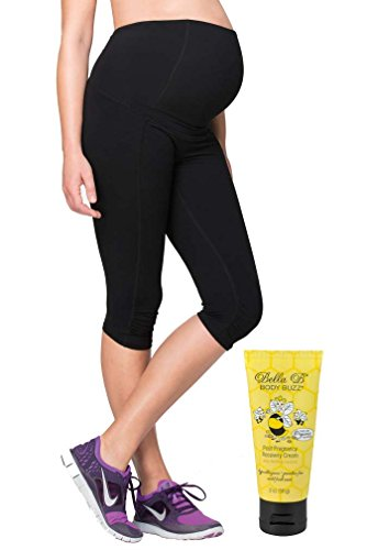 Bundle 2 Item Ingrid Isabel Maternity Knee Active Pant + BellaB BodyBuzz Black L