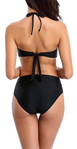 ATTRACO Bikini Swimsuit for Women Wireless Backless Two Pieces Swimwear Bikini Set