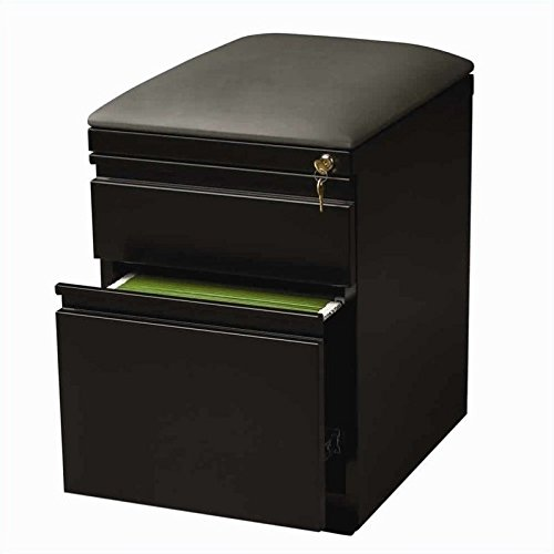 Hirsh Industries Mobile Seat Box-File Cabinet in Black ()