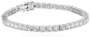 Platinum-Plated Sterling Silver Swarovski Zirconia Tennis Bracelet