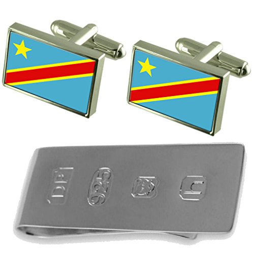Bond amp; Clip Zaïre James Cufflinks Zaïre Flag Flag Money xYSH67Tqw