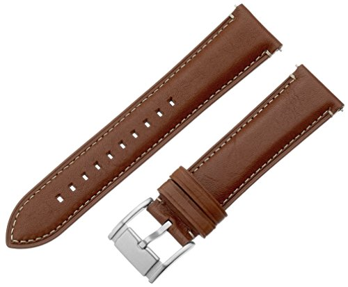 Fossil Leather Strap - Fossil S221246 22mm Leather Light Brown Watch Strap