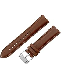 S221246 22mm Leather Light Brown Watch Strap