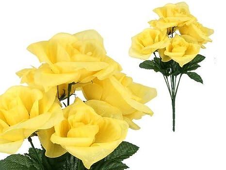 Amazon.com: 7-stem grande Rosas, Flores artificiales: Home ...