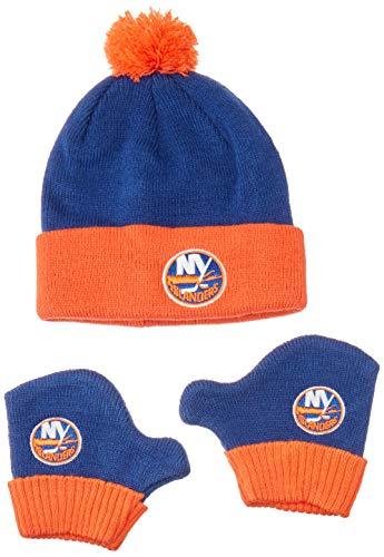 OTS NHL New York Islanders Pow Knit Cap & Mittens Set, Royal, Infant
