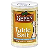 Gefen Table Salt This Salt Does Not Supply Iodide 26 Oz. Pk Of 3.