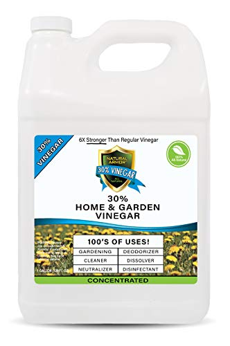 30% Vinegar Pure Natural & Safe Industrial Strength Concentrate for Home & Garden & Literally Hundreds of Other Uses 6X Stronger Than Regular Vinegar (128 OZ Gallon) from Natural Armor