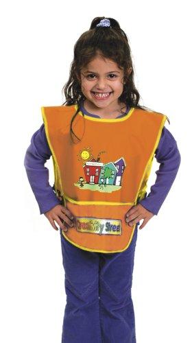 Childrens Vinyl Artist Smock - Chenille Kraft Vinyl Artist Smock fits Kids Ages 3-8, Orange