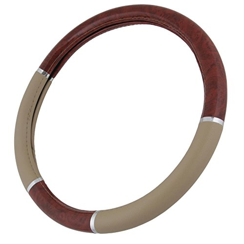 beige-two-tone-145-155-woodgrain-pattern-dark-wood-steering-wheel-cover