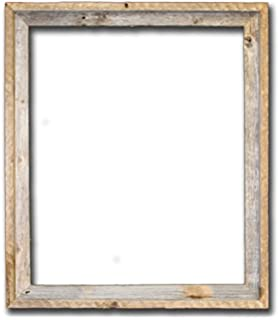 24x30 2 wide signature reclaimed rustic barnwood open frame no glass or back