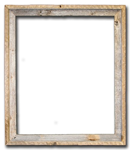 "20x24 – 2"" Wide Signature Reclaimed Rustic Barnwood Open Frame - No Glass or Back"