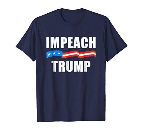 Mens Impeach Trump T-Shirt 2XL Navy