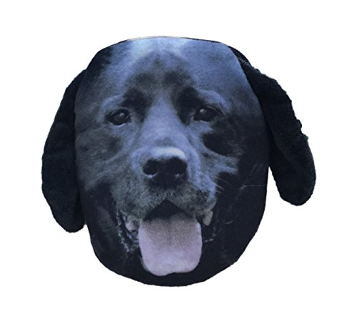 Small Zippered Photographic Picture Dog Head/Face Coin Purse Wallet Makeup Bag (Black ()