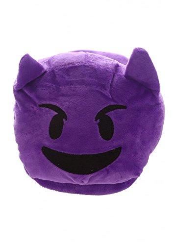 Pantofole Emoji Emoticon DIAVOLETTO VIOLA aperte dietro