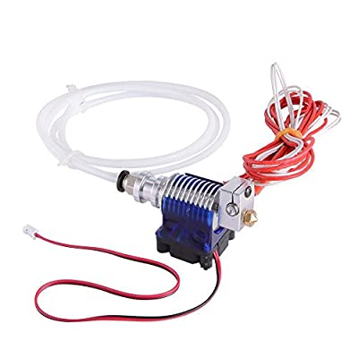 WINGONEER Metal J-Head V6 Hot End for 3D Printer 1.75mm Filament Bowden Extruder 0.4mm Nozzle Kossel Mini Prusa i3