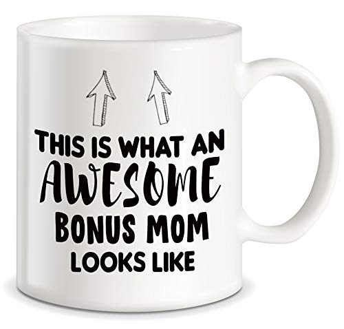 Mother's Day Gift for Step Mom This Is What An Awesome Bonus Mom Looks Like Stepmother Gag Gift Idea Funny Novelty for Christmas and Birthday Ceramic Coffee Mug Tea Cup (Your The Best Boyfriend Ever Poems)
