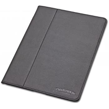 Slim iPad case: The Ridge by Devicewear - Black Vegan Leather Magnetic iPad 2/3/4 Case with Six Position Flip Stand