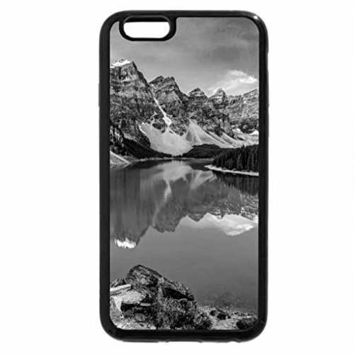 iPhone 6S Case, iPhone 6 Case (Black & White) - The Lake Mirror