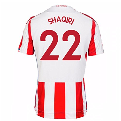2017-18 Stoke City Home Football Soccer T-Shirt Jersey (Xherdan Shaqiri ()