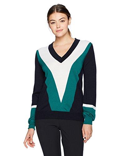 J.Lindeberg Women's W Mona True Merino Sweater, JL Navy, M by J.Lindeberg