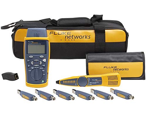 Fluke Networks CIQ-KIT Copper Qualification Tester Kit Qualifies and Troubleshoots Category 5-6A Cabling for 10/100/Gig Ethernet, Coax, and VoIP, Includes IntelliTone Pro 200 & Remote ID Kit