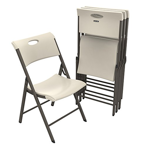 Lifetime 480625 Commercial Folding Chair, Almond by Lifetime