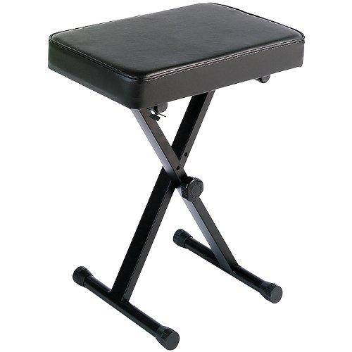Yamaha Pkbb1 Adjustable Padded Keyboard X-Style Bench, Black by Yamaha