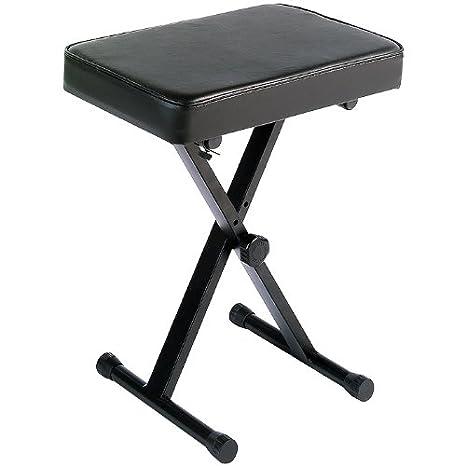 Elegant Yamaha PKBB1 Adjustable Padded Keyboard X Style Bench, Black