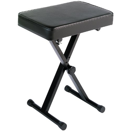 Yamaha PKBB1 Adjustable Padded Keyboard X-Style Bench, - Wide Single Electric