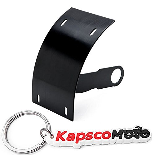 Krator MOTORCYCLE CURVED VERTICAL SIDE MOUNT LICENSE PLATE TAG HOLDER BRACKET FITS ALL SPORT BIKES AND CRUISERS. HARLEY DAVIDSON, KAWASAKI, HONDA, YAMAHA, SUZUKI + KapscoMoto Keychain by Krator (Image #7)