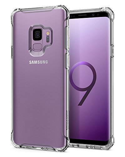 Price comparison product image Spigen Rugged Crystal Galaxy S9 Case with Flexible and Durable Shock Absorption for Samsung Galaxy S9 (2018) - Crystal Clear