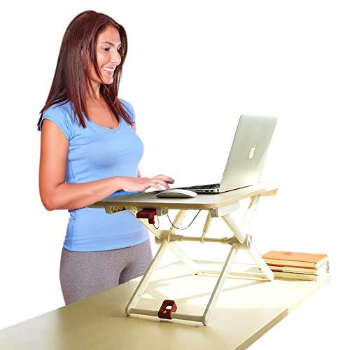 Ergoshopping altezza regolabile per scrivania. istantaneamente converte qualsiasi superficie a una scrivania Up. Supporto per notebook, sit to stand in pochi secondi