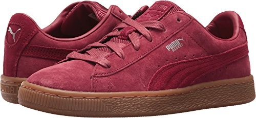 PUMA Unisex-Kids Basket Classic Weatherproof Sneaker, Tibetan Red-Tibetan Red, 6 M US Big Kid - Kid Suede Shoes