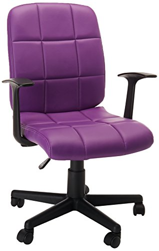 Flash Furniture Mid-Back Purple Quilted Vinyl Swivel Task Chair with - Purple Computer Chair