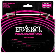 """Ernie Ball Stage and Studio Patch Cable, 1/4"""" Flat x 2, Pedalboard Combo (P0"""
