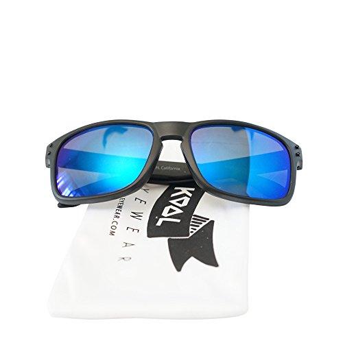 KOOL California - K Class Sky - Flat Matte Reflective Color Lens Style Sunglasses - - Sun Class For Man