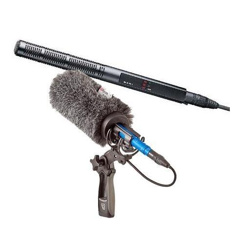 Sennheiser MKH60P48 Super-Cardioid Short Shotgun Condenser Mic Boom BUNDLE
