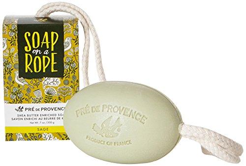 Pre de Provence Soap On a Rope, Sage, 200 Gram