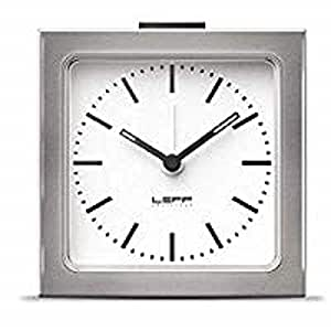 LEFF Amsterdam Analog Alarm Clock Stainless Steel Bedroom Home Décor