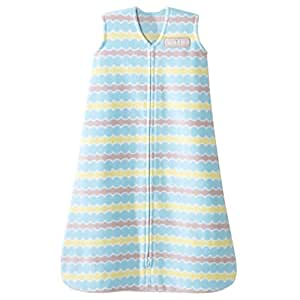 HALO SleepSack Micro-Fleece Wearable Blanket, Blue Waves, Large