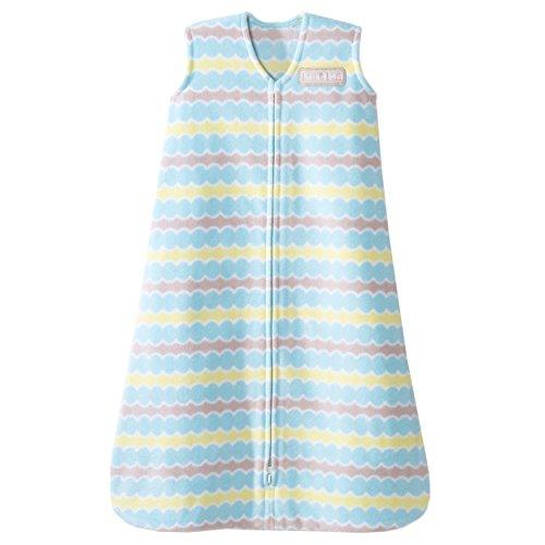 HALO SleepSack Micro-Fleece Wearable Blanket, Blue Waves, Small