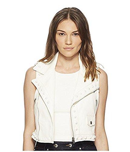 増幅するモネ自転車レッド ヴァレンティノ RED VALENTINO レディース コート Latte Leather Vest with Boules [並行輸入品]